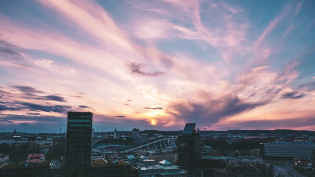 Gothenburg Cityscape Time Lapse in Sunset