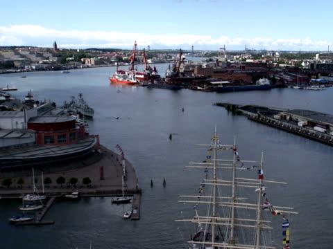 Gothenburg harbour entrance Sweden.
