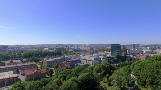 Gothenburg Sweden Aerial View over City