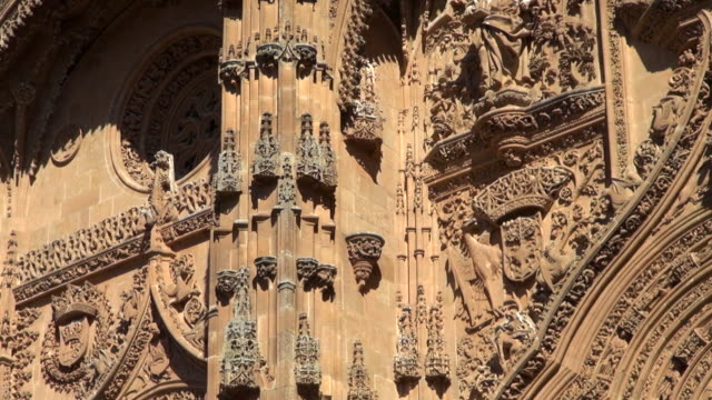 Gothic Detail of New Cathedral in Salamanca Spain
