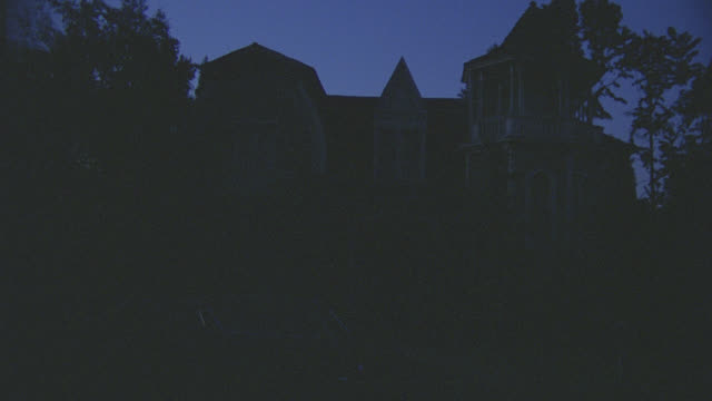 gothic house - night - spooky stock videos & royalty-free footage