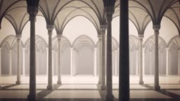 Gothic palace with an inner courtyard.