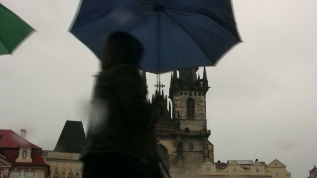 (HD1080i) Gothic Spires in Rain