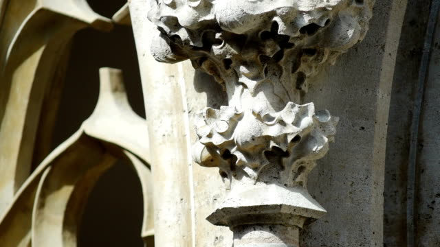 tu gothique sculptured ornament in rothenburg (4k/uhd to hd) - tracery stock videos and b-roll footage