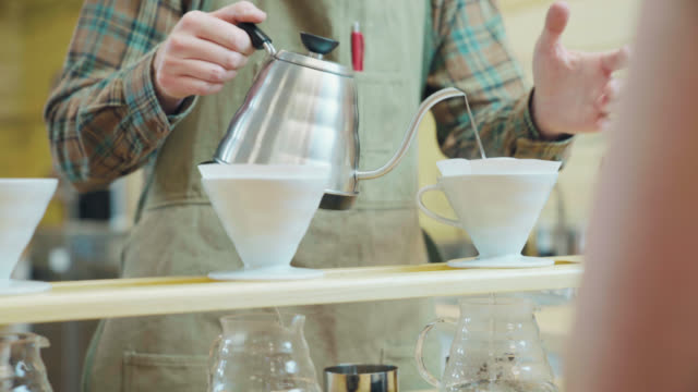 gourmet drip coffee - portland oregon stock videos & royalty-free footage