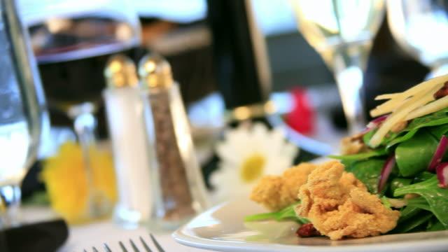Gourmet Encrusted Calamari Salad