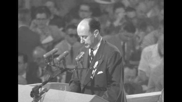 gov adlai stevenson from opening speech at the democratic national convention what america needs and the world wants is not bombast abuse and double... - adlai stevenson ii stock videos and b-roll footage