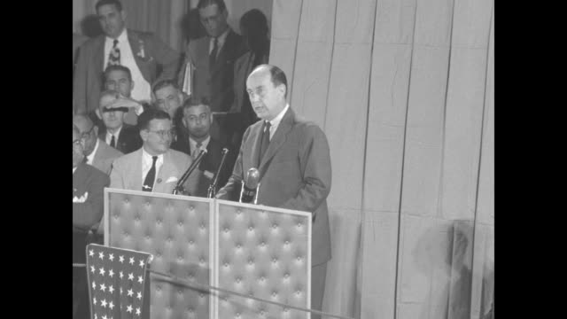 we have inflation today not disastrous but serious because the gods of war working through their agents in the kremlin have dumped a barrel of yeast... - adlai stevenson ii stock videos and b-roll footage