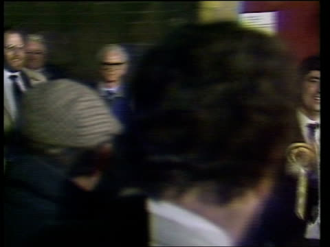 jim sillars of the scottish national party overturns a 19500 labour majority scotland glasgow covan ms jim sillars and wife margo macdonald pan lr as... - scottish national party stock videos & royalty-free footage