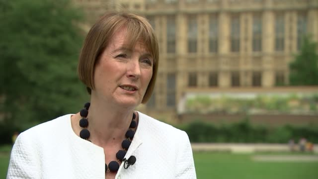 Harriet Harman interview ENGLAND London Westminster EXT Harriet Harman MP interview SOT