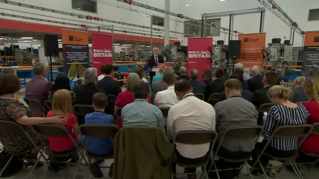 government announce biggest public sector pay rise in decade england west midlands birmingham eef technology hub int various shots of jeremy corbyn... - west midlands stock videos & royalty-free footage