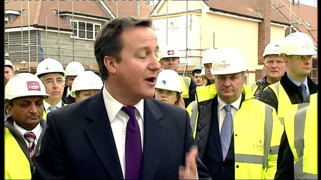 government announces 400 million pounds to be invested in building new homes ext david cameron mp interview sot you always remember that moment if... - newly industrialized country stock videos & royalty-free footage