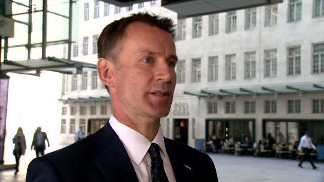 government announces expansion of mental health services london ext jeremy hunt mp interview sot - richard pallot stock-videos und b-roll-filmmaterial