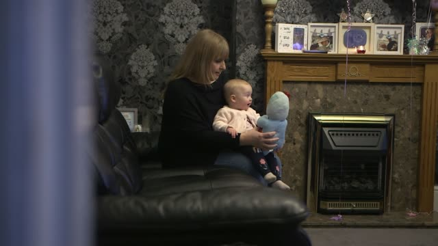 government announces inquiry into maternity services at east kent hospitals trust after baby deaths kent int dawn powell sat holding her baby... - jackie long stock videos & royalty-free footage