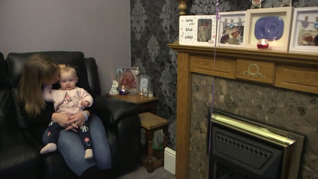 government announces inquiry into maternity services at east kent hospitals trust after baby deaths england kent int dawn powell sat holding her baby... - jackie long stock videos & royalty-free footage