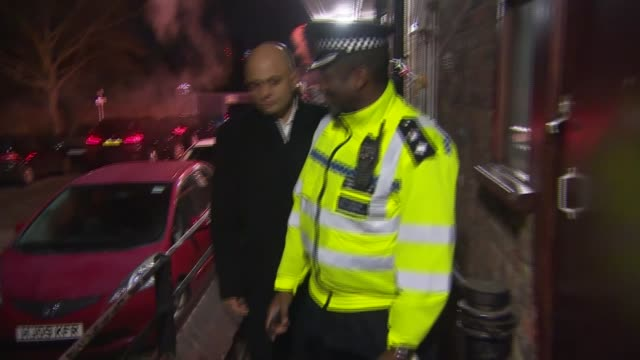 government announces new knife crime strategy england london sajid javid mp on patrol with metropolitan police officers sajid javid mp interview sot... - governmental occupation stock videos & royalty-free footage