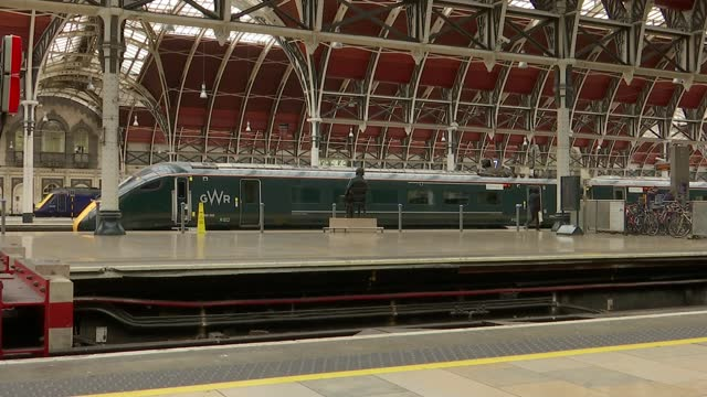 government asks rail industry to 'urgently' set out plan to resolve disruption caused by cracked trains; england: int station gwr train along from... - channel 4 news stock videos & royalty-free footage