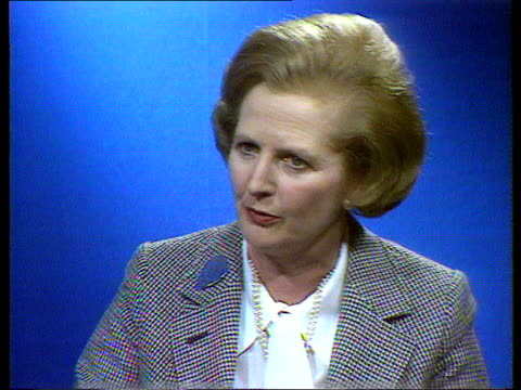 government attacks labour party over tax changes int cms margaret thatcher mp intvw sof money is taken from you and goes to government and you have... - margaret thatcher stock-videos und b-roll-filmmaterial