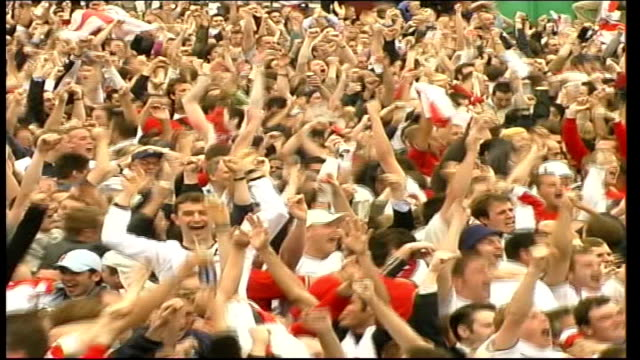 government backs england's bid to host the 2018 world cup; file / july 2006 various locations: ext/int various shots of england fans celebrating... - bid stock videos & royalty-free footage