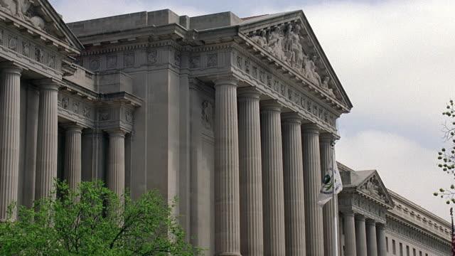 ms government building exterior / washington dc, usa - pediment stock videos & royalty-free footage