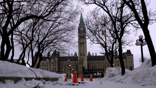 government building on parliament hill in ottawa - parliament hill stock videos and b-roll footage