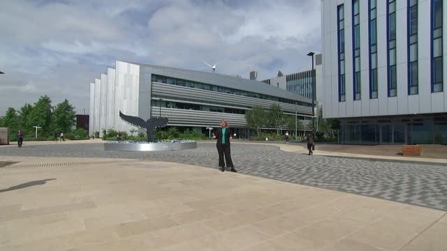Government clears way for Sky bidding war ENGLAND London Osterley Sky Headquarters EXT Reporter to camera