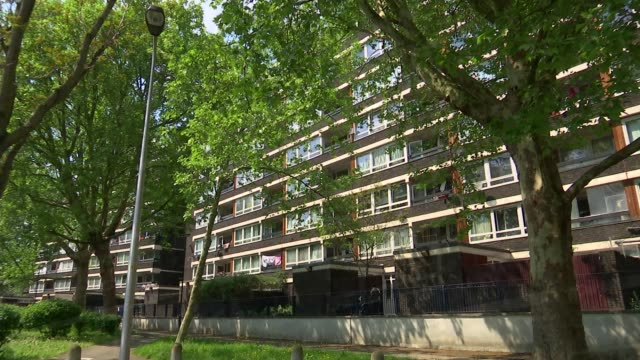 Government could bring in three year minimum tenancies R080518002 / 852018 London Southwark EXT Various of block of flats on council estate Tower...