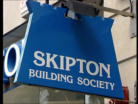 government crackdown on building society windfalls; phil telford interviewed sot - members have found the internet a very useful tool for contacting... - skipton stock videos & royalty-free footage