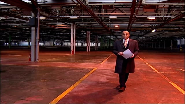 government criticised for longbridge closure crisis birmingham longbridge former rover factory reporter to camera in former rover factory chinese... - empty glass stock videos and b-roll footage