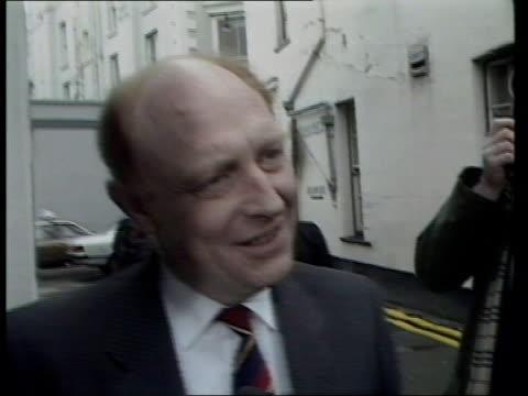 government drops nuclear dumping plans; london: westminster: int 2 shot cms nicholas ridley mp interview sot wales: ext cms neil kinnock mp interview... - neil simon bildbanksvideor och videomaterial från bakom kulisserna