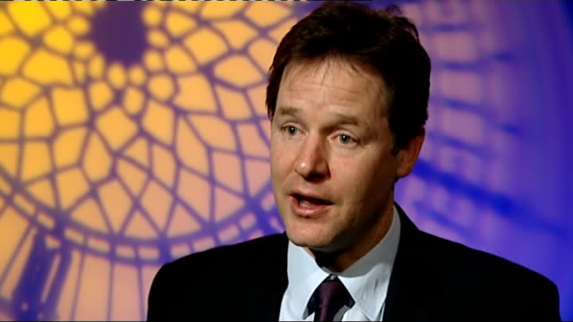 government freedom bill to reduce state intrusion announced nick clegg interview england london westminster int nick clegg mp interview sot on the... - politics and government stock videos & royalty-free footage
