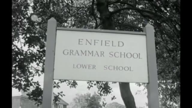 government grammar school plans leaked; fs200967013 / tx 20.9.1967 london: enfield: b/w schoolboys arriving at enfield grammar school 'enfield... - schoolboy stock videos & royalty-free footage