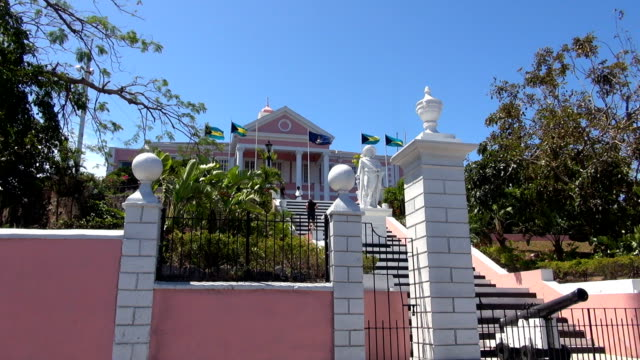 government house - nassau, bahamas - nassau stock videos & royalty-free footage