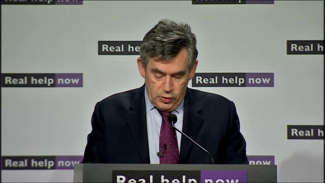 government jobs summit: gordon brown speech; brown speech sot - but we must today do more and everything we can to help those losing their jobs to... - vacancyサイン点の映像素材/bロール