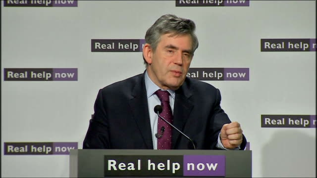gordon brown speech brown response to questions sot and then the proposals that come from germany and portugal i am meeting chancellor merkel this... - qualification round stock videos & royalty-free footage