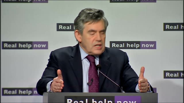 government jobs summit: gordon brown speech; brown speech sot - now the context in which james purnell, the work and pensions secretary, john denham,... - out of context stock videos & royalty-free footage
