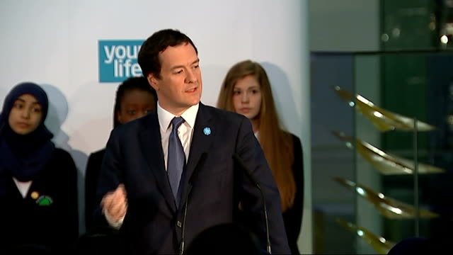 government launches campaign to get students to take up stem subjects george osborne mp speech sot 150000 of our kids do gcse physics but the time it... - 一般教育証明試験点の映像素材/bロール