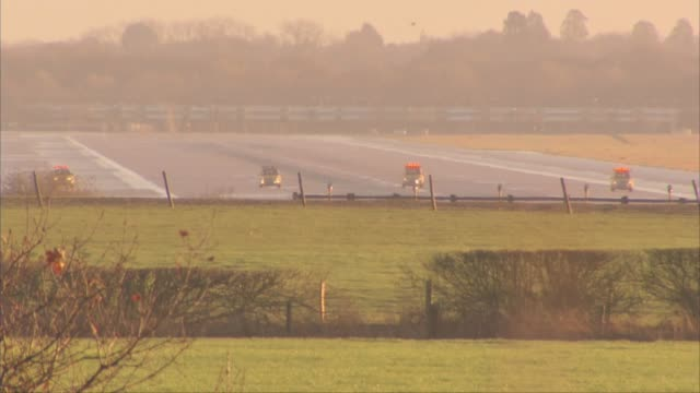 Government looks at technological and legal solutions to the problem of drones after Gatwick Airport closed ENGLAND West Sussex EXT View towards...
