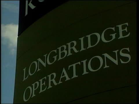 government money for rover plant itn birmingham longbridge ms sign rover longbridge operations la gv sign - longbridge stock videos & royalty-free footage