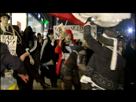 government of the dead artists' group artport stage carnival protest against the government's handling of the economic crisis - recession stock videos & royalty-free footage