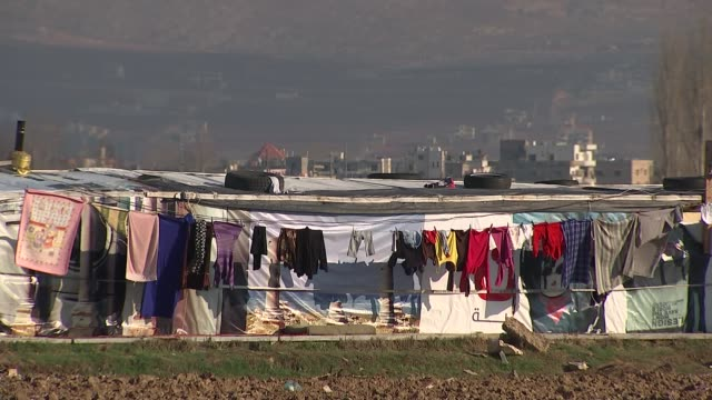 vídeos de stock, filmes e b-roll de government opposes legislation that would make it easier for refugee families to be reunited in the uk t03021615 / 322016 washing hanging on line in... - legislação