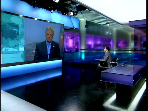 government outlines future plans for the bbc england london gir ex westminster int michael grade interviewed sot it's not for me to say what will go... - editorial stock videos & royalty-free footage