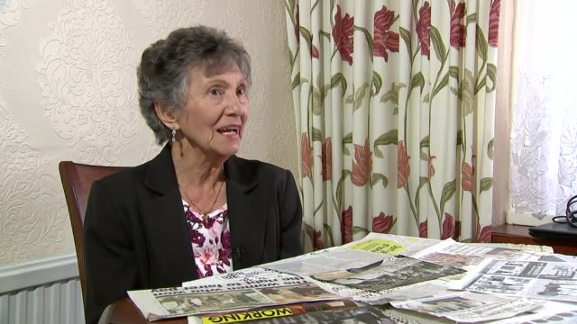 government outlines plans to tackle gender pay gap int gwen davis reading newspaper clippings about dagenham workers gwen davis interview sot female... - dagenham stock videos & royalty-free footage