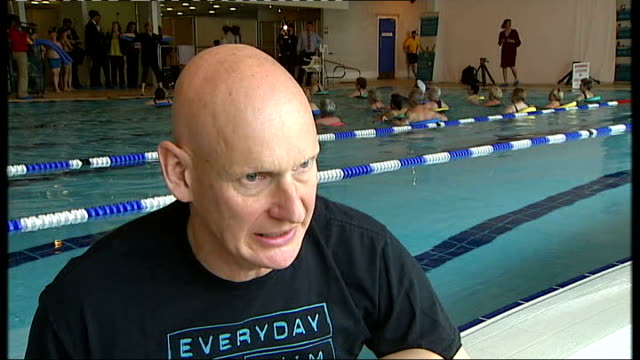 government plans for free swimming london int duncan goodhew interview sot - duncan goodhew stock videos & royalty-free footage