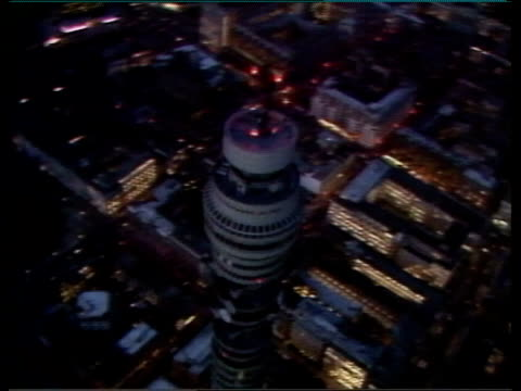 stockvideo's en b-roll-footage met government plans for privatisation of british telecom nat title roll a gpo tower - british telecom