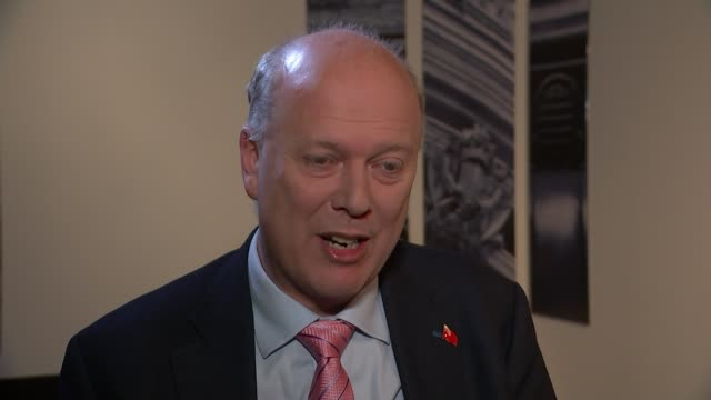 Government plans to reopen rail lines closed in 1960s by infamous Beeching report ENGLAND London INT Chris Grayling MP interview SOT