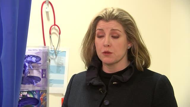 government pledges more money to tackle female genital mutilation england london int penny mordaunt mp interview sot - mutilazioni genitali femminili video stock e b–roll