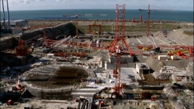 Government publishes draft Energy Bill TX Normandy Flamanville Various of nuclear plant under construction