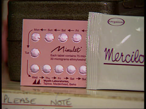 government response to fears over pill research lib various contraceptive pills on shelf cs packet containing contraceptive pill pan other packets - contraceptive stock videos & royalty-free footage
