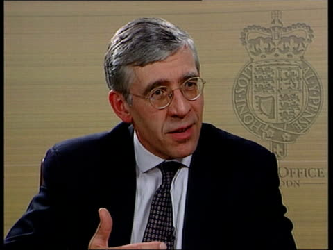 CRIME / Government response to Lawrence inquiry recommendations ITN London Home Office Jack Straw MP interview SOT There is a difference in what is...